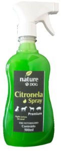 SPRAY DE CITRONELA PARA CÃES E AMBIENTES NATURE DOG - 500 ML