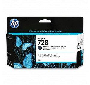HP 728 Preto Fosco PLUK 130 ml
