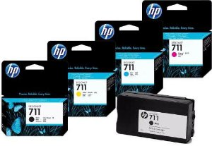 KIT 4 CORES cartuchos HP - Plotter T120 e T520