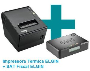 SAT Fiscal ELGIN + impressora Termica ELGIN = KIT SAT
