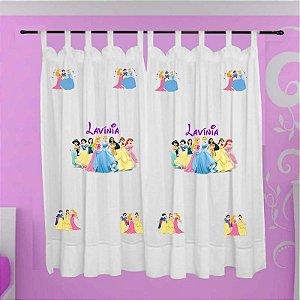 Cortina Infantil Personalizada - Princesas Disney