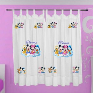 Cortina Infantil Personalizada - Baby Disney