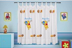Cortina Infantil Personalizada - Ursinho Pooh