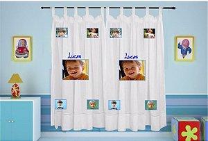 Cortina Infantil Personalizada com Foto e Nome