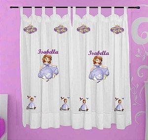 Cortina Princesa Sofia Personalizada com Nome