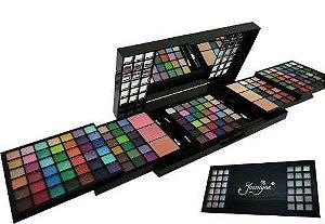 Kit De Maquiagem Jasmyne Maleta Com 172 Itens 3d + Brinde