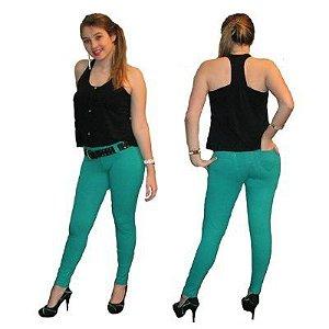 Calça Legging Básica Com Passantes  2 Bolsos trazeiros e bolso falso na frente