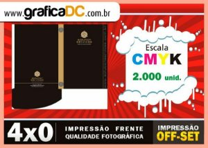 2000 - Pastas com bolsa - 4x0 colorida frente - Refile + corte