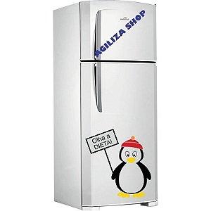 Adesivo Pinguim Diet