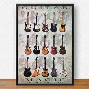 Quadro Decorativo Guitar Mafic ArtMadeira 15x21 ref Q019