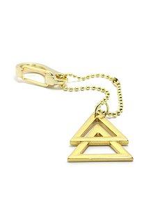 Chaveiro Kodo Acessórios Triângulo Dourado