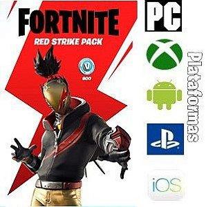 Pacote Atacante Vermelho - Fortnite