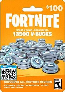 Cartão Pré-pago 13500 V-bucks