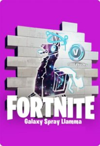 Spray Galaxy Llamma + 1000 Vbucks - Fortnite