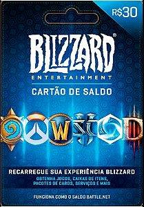 Saldo Blizzard - BR - R$ 30,00