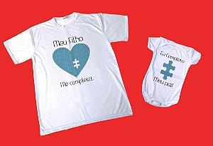 Kit Camiseta+Body Pai e Filho(a)