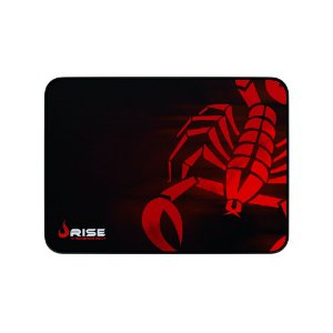 Mousepad Rise Gaming Escorpion Red Médio Borda Costurada RG-MP-04-SR