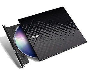 Leitor e Gravador Externo Asus Slim SDRW-08D2S-U CD/DVD Usb