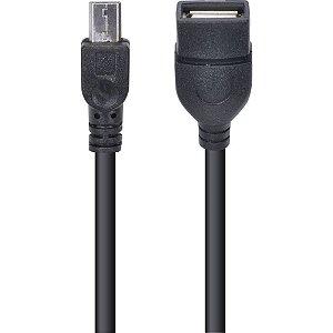 Adaptador Usb Fêmea X Micro Usb com função OTG UFMU-OTG