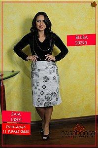 Blusa Body Decote e Gola - Malha Pluch c/ Elastano - 20293