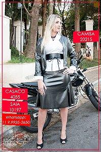 Jaqueta Couro c/ Ziper Lateral - Couro (Forrado)- 4055