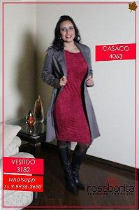 Vestido Priscila - Malha Suede - 3182