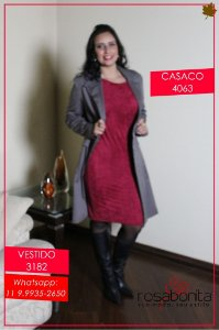 Casaco c/ Lapela e Bolso - Sarja (Forrada) - 4063