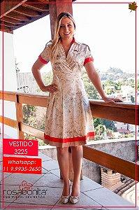 Vestido Norma (Forrado na Saia) - Linho - 3225