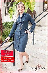 Vestido Casaco c/ Pala - Piquê- 3258