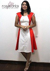 Vestido Evasé Sofia - Sarja Liso - 3261