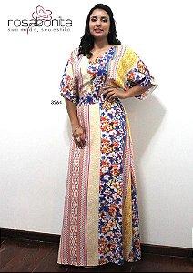 Vestido Longo Sueli - Viscose Estampado - 3264