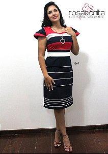 Vestido Marinheiro - Sarja Lisa - 3267