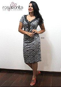 Vestido Detalheem V - Bengalini - 3268