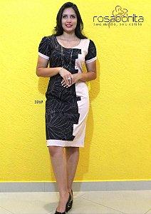 Vestido Luana - Sarja Lisa - Sarja Estampada - 3269