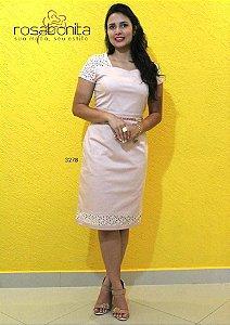 Vestido Cristine - Cotton Satin c/ Forro e Lees - 3278