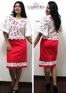 Vestido Rosemeire - Cotton Satin + Telão - 3279