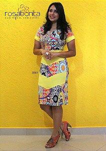 Vestido Cissa - Bengalini Estampado ou Liso - 3281