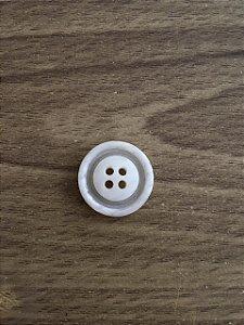 Botão Branco 4 Furos - 4
