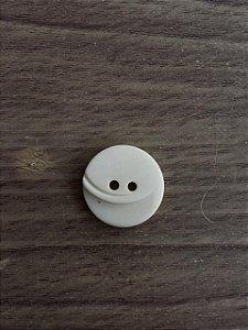 Botão Branco 2 Furos - 8