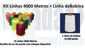 Kit Linhas 4000 Metros + Linha de Bobina