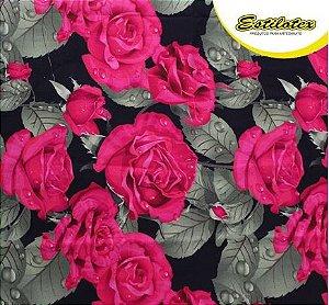Tricoline Digital Rosas Estilotex