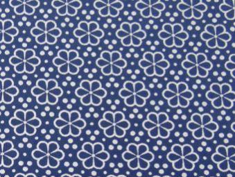 Tricoline Flor Fundo Azul