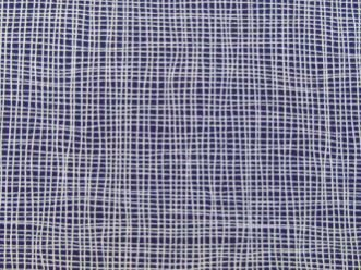 Tricoline Quadriculado Azul Marinho