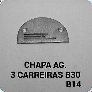 Chapa de Agulha 3 Carreiras B14