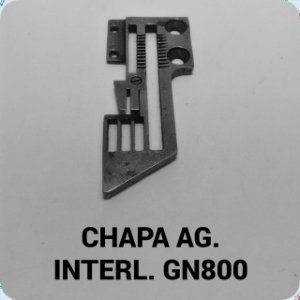 Chapa de Agulha Interloque GN800