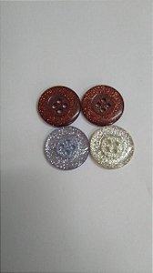 Botão 4 furos - A100 - Glitter - 24mm