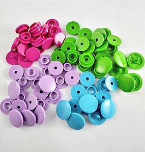 Botão de Pressão Ritas Plástico 10mm - 10 UNIDADES