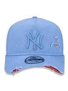 BONÉ NEW ERA 9FORTY A-FRAME ABA CURVA AJUSTÁVEL MLB NEW YORK YANKEES BASIC AZUL