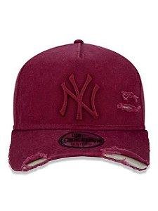 BONÉ NEW ERA 9FORTY A-FRAME ABA CURVA AJUSTÁVEL MLB NEW YORK YANKEES BASIC VERMELHO ESCURO