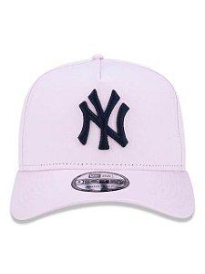 BONÉ NEW ERA 9FORTY A-FRAME ABA CURVA AJUSTÁVEL MLB NEW YORK YANKEES BASIC ROSA